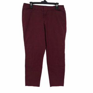 Old Navy Womens Red Pixie Chino Pants Size 14